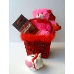 Jumbo Milk Chocolate Block Candy Bar, Plush Teddy Bear Stuffed Animal