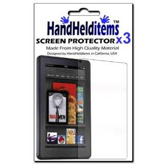 HHI TPU Case Rubber Skin Cover For  Kindle Fire   Black (The