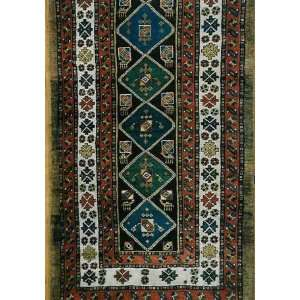 3x9 Hand Knotted Kurd Kurdistan Rug   35x99: Home & Kitchen