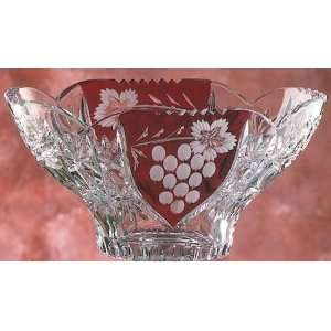 German Lead Crystal Asti Ruby Oval Bowl: Home & Kitchen