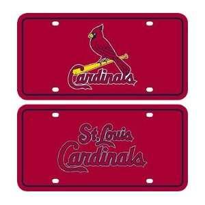 St Louis Cardinals Halographic License Plate Automotive