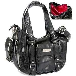 Ju Ju Be Legacy Collection BeHave Black Hot Pink Diaper Bag Baby
