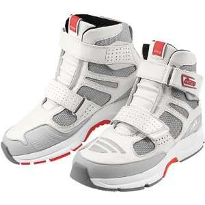 Tarmac Ventilated Mens Sportsbike Motorcycle Boots   White / Size 12