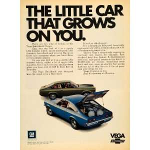 1971 Ad General Motors Co. GM Chevrolet Vega Coupe Car
