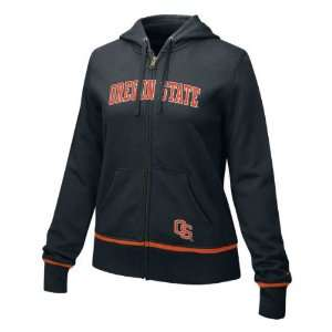 Oregon State Beavers Womens Nike Black Classic Full Zip Hoodie