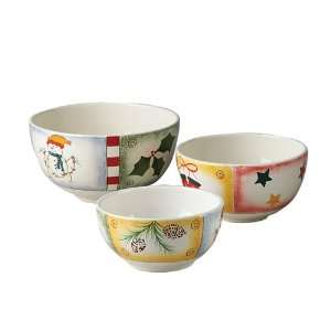 Pfaltzgraff Holiday Magic 3 Piece Mixing Bowl Set  Kitchen