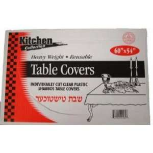 CLEAR PLASTIC TABLE COVERS 60 X 54 10CS