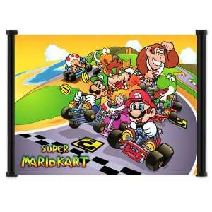Super Mario Kart Classic Game Fabric Wall Scroll Poster (21x16