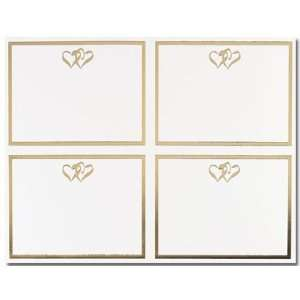Postcards, 4up Gold Double Hearts   24 Postcards Office