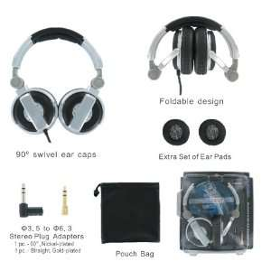 AV JEFE DJ Class Professional Stereo Headphone_High Powered, Heavy