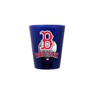 Boston Red Sox 2oz. Collector Glass   Cobalt   3d Enhanced