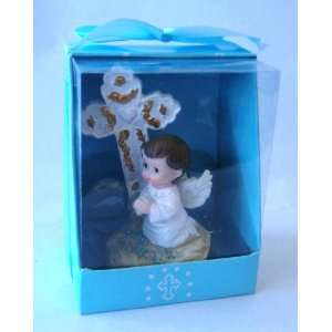 Angel Praying Cross Statue Religious Gift Boxed Party Favors CR088W BL