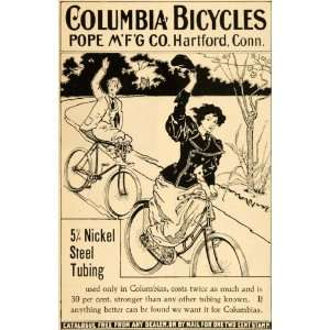 1898 Vintage Ad Columbia Pope Bicycle Cycle Bike Riders   Original