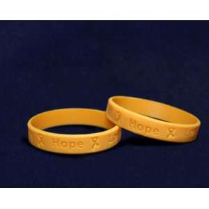Silicone Bracelets   Orange Ribbon (RETAIL) : Toys & Games :