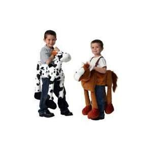 Plush Ride On Farm Set   Horse and Cow: Toys & Games