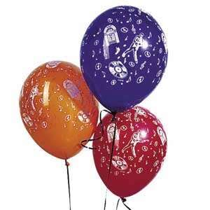11 in. Rock & Roll Music Balloons 50/pkg Toys & Games