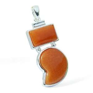 Lace Jasper Gemstone Jewelry Silver like Pendant Pure