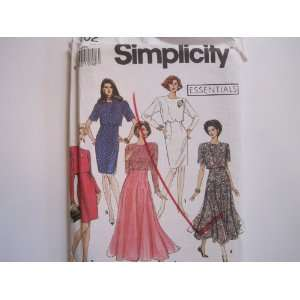 Simplicity Pattern 7502 Misses/Miss Petite Flared or Slim Dresses