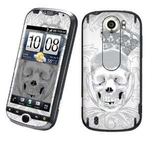 Slide Vinyl Protection Decal Skin White Skull Crown Cell Phones
