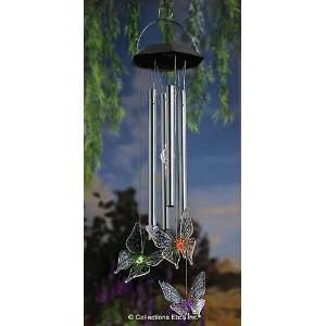 Solar Power LED Butterfly Wind Chime