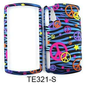 Sony Ericsson Xperia R800 Trans. Design, Colorful Peace Signs on Blue