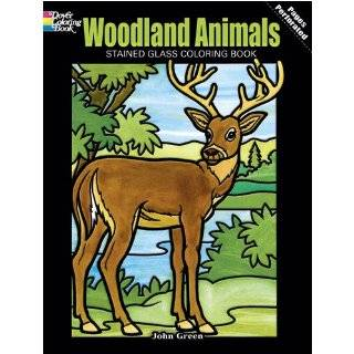 Wild Animals Stained Glass Coloring Book (Dover Nature Stained Glass