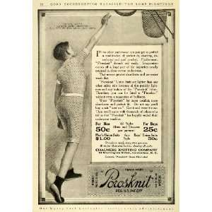1911 Ad Porosknit Chalmers Knitting Union Suits Clothes