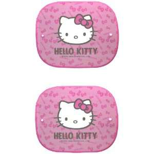 Hello Kitty 2PC Side Window Car Truck SUV Sun Shade   Bows Automotive