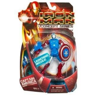 Iron Man Movie Action Figure Capt. America Armor Iron Man