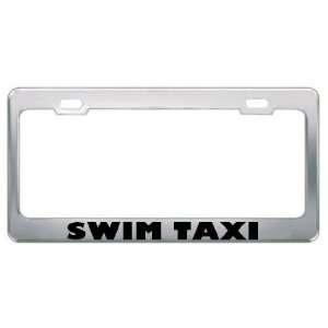 Swim Taxi Sport Sports Metal License Plate Frame Holder