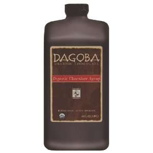 Dagoba Organic Chocolate Syrup Jug, 4 Count (Fair Trade Certified), 64