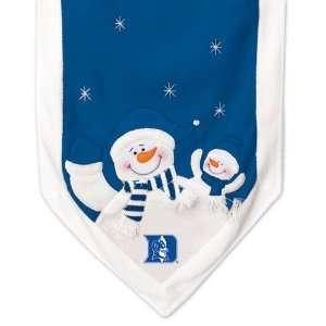 NCAA Duke Blue Devils Snowman Christmas Table Runner