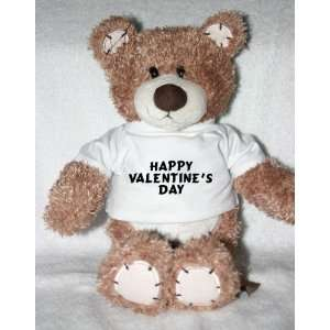 Teddy Bear with Happy Valentines Day t shirt Toys