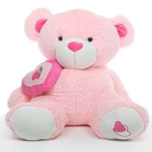 Big Love   Big Pink Huggable Valentines Day Teddy Bear Toys & Games