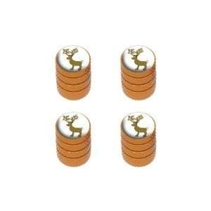 Christmas   Tire Rim Wheel Valve Stem Caps   Orange Automotive