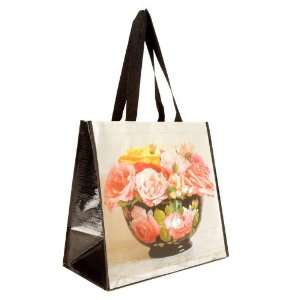 Insta Totes Flower Bowl Black Shopping Tote By The Each