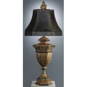 Leaf Castile Traditional / Classic Single Light Table Lamp from the C