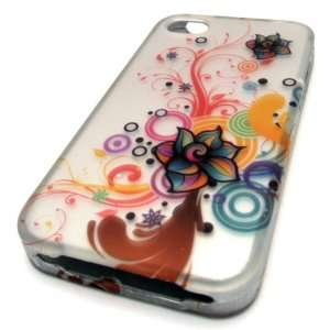 Apple iPhone 4S Case Cover Silver Spiral Flower Tree HARD