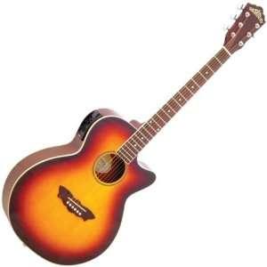 Washburn EA16 Acoustic Electric Guitar (Tobacco Sunburst