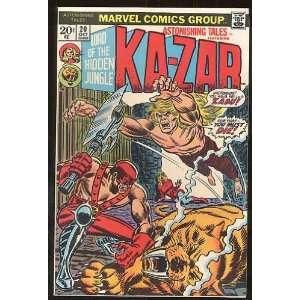Ka Zar, v1 #20. Oct 1973 [Comic Book] Marvel (Comic