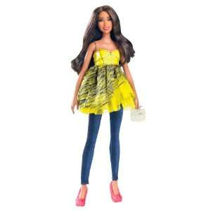 Barbie All Dolled Up STARDOLL Brunette Doll Yellow Top