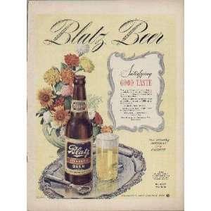 Satisfying Good Taste  1944 Blatz Pilsener Beer War
