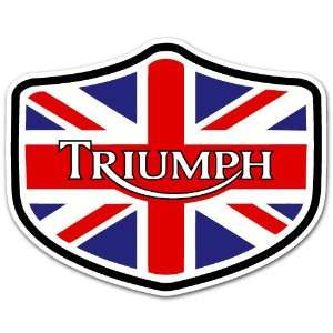 Triumph Motorcycle Biker UK Flag Car Bumper Sticker Decal