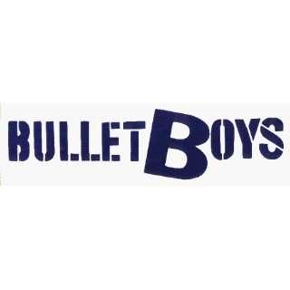Bullet Boys   Blue on Clear Logo   AUTHENTIC RETRO 80S   Sticker