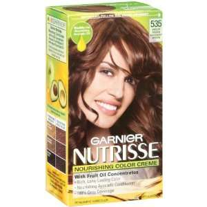 Garnier Nutrisse Haircolor, 535 Medium Golden Mahogany Brown Chocolate