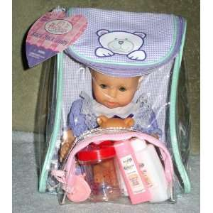 Pack Baby   Baby Girl in Purple Dress with Teddy Bear Toys & Games