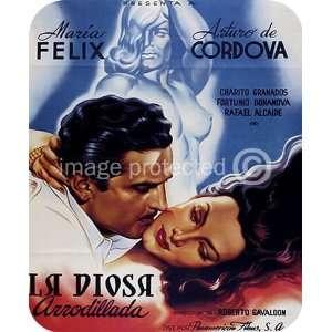 La Diosa Arrodillada Vinage Mexican movie MOUSE PAD