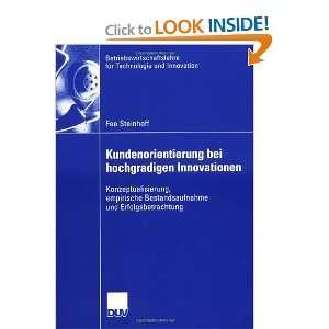 ) (9783835006409) Fee Steinhoff, Prof. Dr. Volker Trommsdorff Books