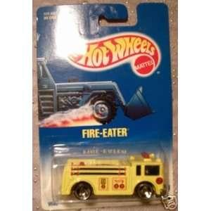 Mattel Hot Wheels 1991 164 Scale Yellow Fire Eater Fire Truck Die