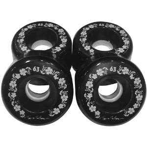 Toes on the Nose 63mm Black Longboard Wheels (Set of 4